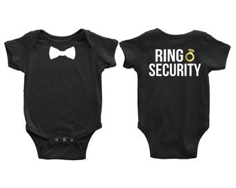 Wedding Ring Bearer, Ring Security Onesie or T-Shirt