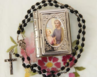 Vintage Lourdes, France Pilgrimage Rosary - Free Shipping