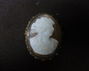 Late Victorian Cameo Brooch, Pin