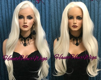 Nordic Marilyn Platinum Blonde Muti Parting Human Hair Blend Lace Front Wig