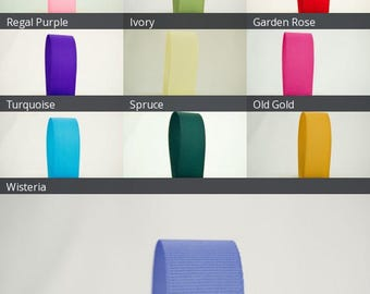 Ribbon Bazaar Solid Grosgrain Ribbon 3/8 inch 50 yards 100% Polyester