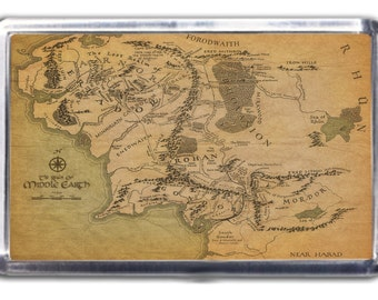 Lord Of The Rings Middle Earth Map Fridge Magnet