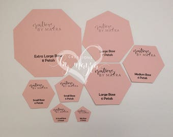 DIGITAL Polygon bases for paper flowers / PDF / Read Item Details