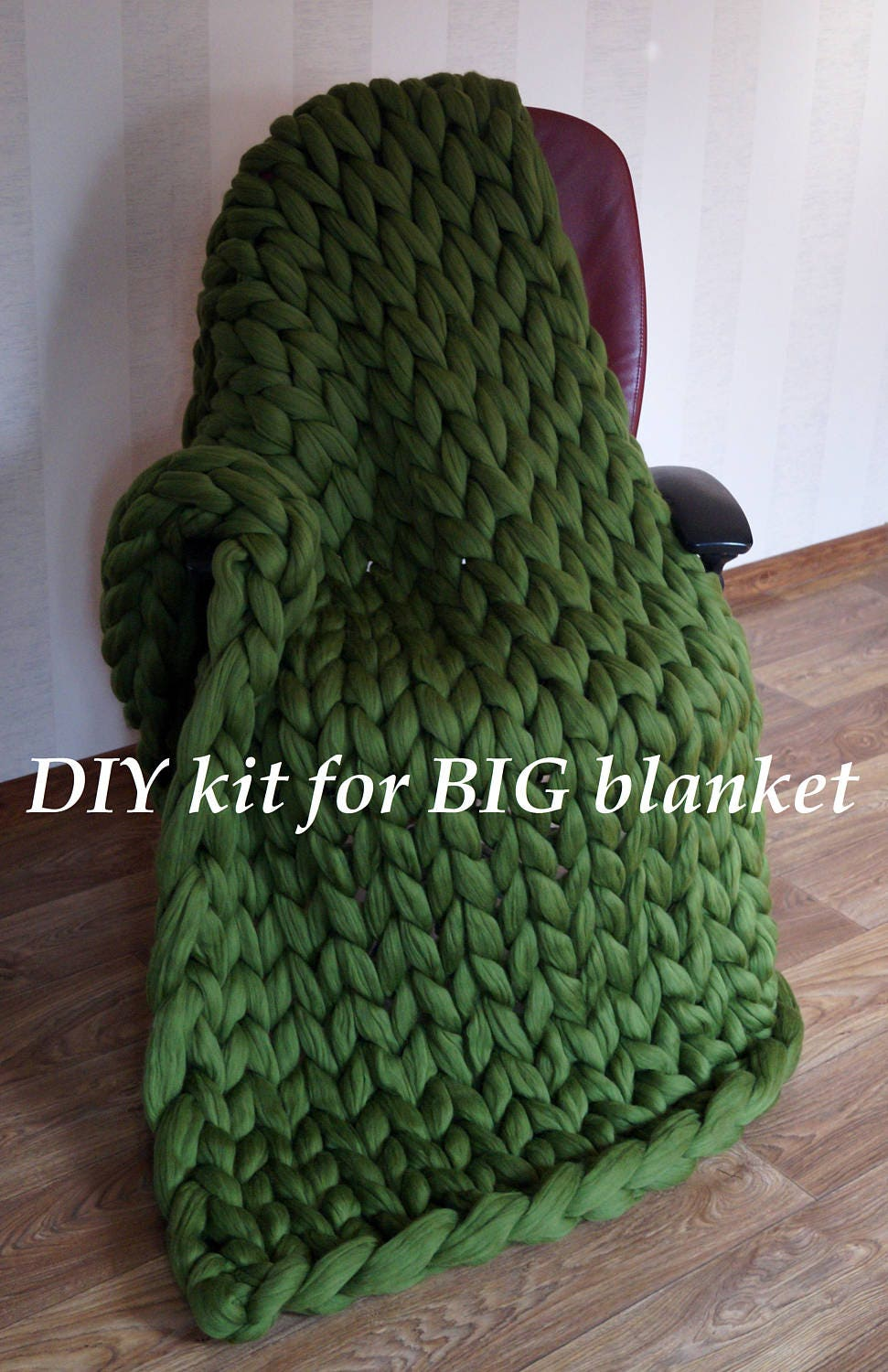 big diy knit kit for chunky knit blanket giant knitting needles 40 mm 1 6 super chunky. Black Bedroom Furniture Sets. Home Design Ideas