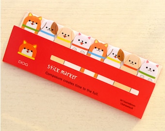 Cute Dog Sticky Notes / Kawaii Stationary / Cute Stationary / Small Gifts / Cute Sticky Notes / Cute Gifts / Cute Puppies / Sticky Notes