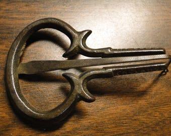 "Hand Wrought Jew's Harp Cast Iron Jew's Harp Hand Made Jew's Harp - 2 1/4"" X 3 1/2"" - Very Old - Great Find!"