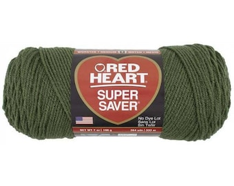 Ball Red Heart Super Saver, Medium Thyme