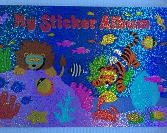 Vintage Sandylion Blank Underwater Glittery Sticker Album