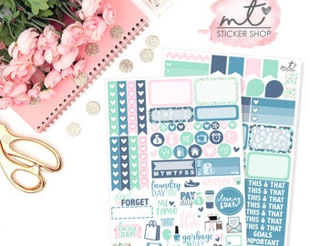 By The Sea Mini Kit || Vertical || 80+ Planner Stickers || Erin Condren Life Planner