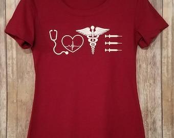 Nurse Shirt - Nurse Crew Fitted Tee - Medical Professional Shirt