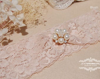 Cute lace Wedding Garter,Bridal Garter,blush and light blue lace Garter, light blue Wedding Garter, wedding Lace Garter