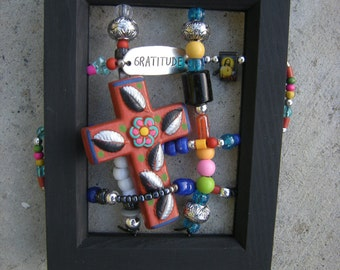 Yucatan, Mexico cross - with 'Gratitude'