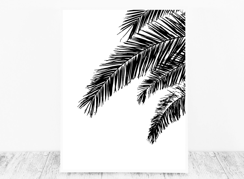 black white print black white palm print tropical print