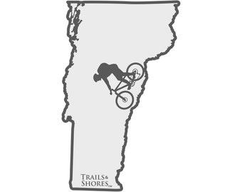 Vermont Mountain Biking Decal