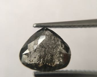 2.14 ct Natural pear shape salt and pepper Fullcut loose conflict free diamond.