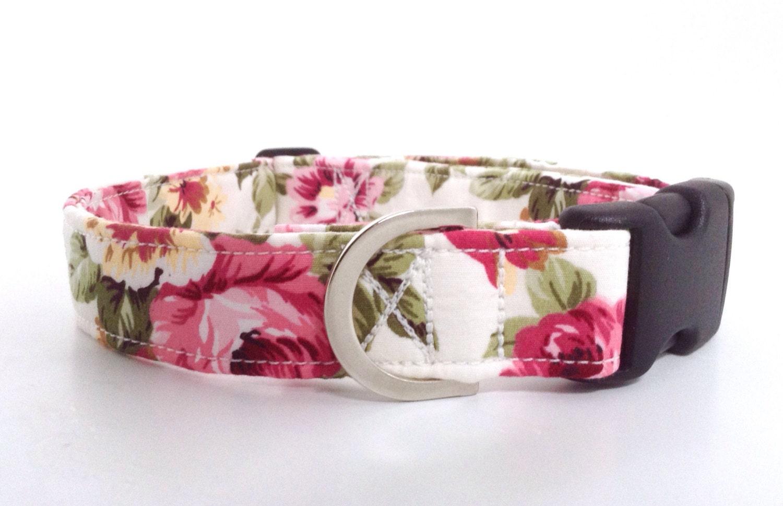 Pink Dog Collar Flowers