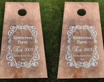 Cornhole Boards, Custom Wedding Cornhole Boards, Corn Hole Boards, Corn Toss Boards, Wedding Corntoss, Optional LED Lights, Design your Own