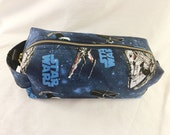 Toiletry Bag - Star Wars Space Ships- TIE Fighter- X Wing- School Supplies - Pencil and Electronics case- Graduation Gift