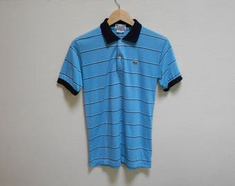 vintage izod lacoste casual strips polo