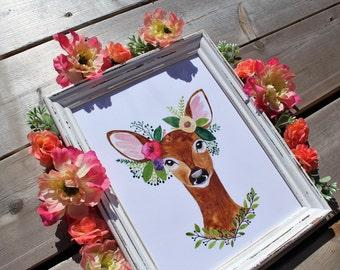 Deer Print in Refreshed Frame