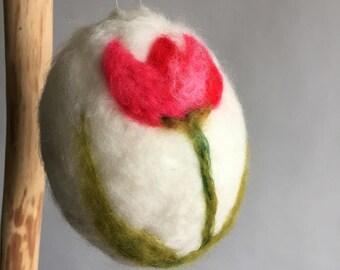 Handmade Needle Felted Large Hanging Egg