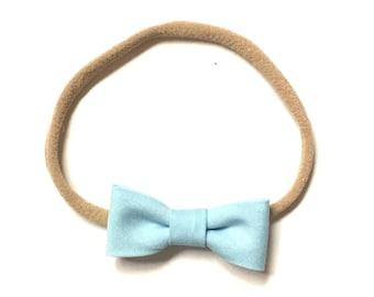 Itty Bitty Headband    Light blue