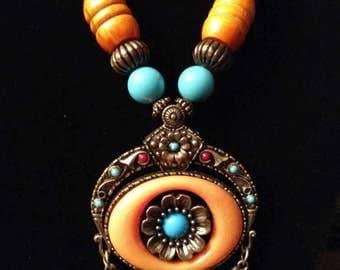 Unique Native Tribal style necklace