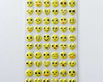 Emoticon Face Stickers; Yellow, Emojicon, Emoji Stickers, Cute Stickers, Fun Stickers, Stationery stickers