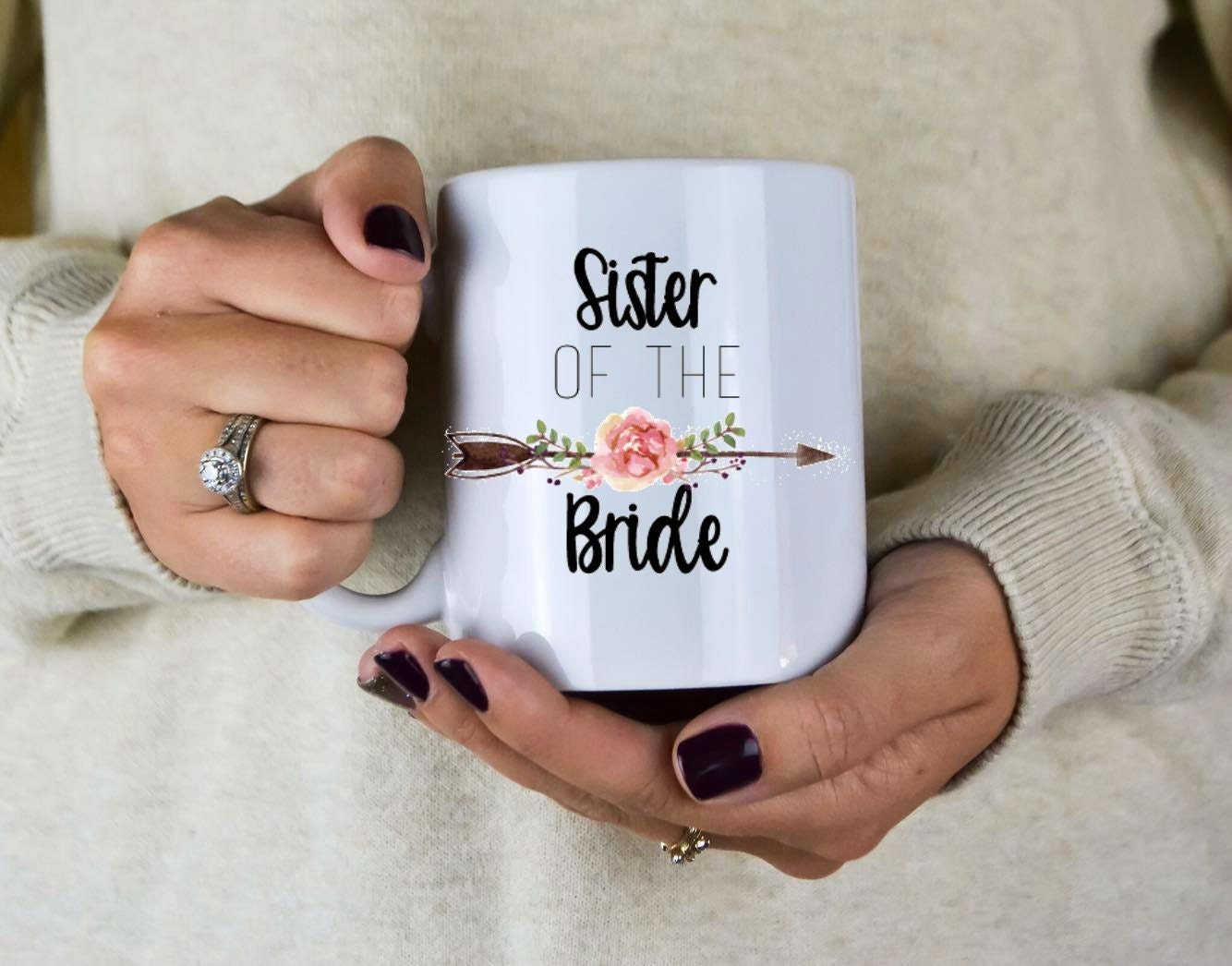 Sister Of The Bride Mug Sister Of The Bride Gift Wedding
