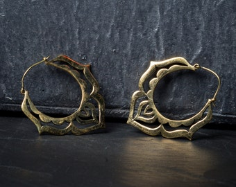 SALE -20% Tribal Hoop Ohrringe, tribal hoop earring
