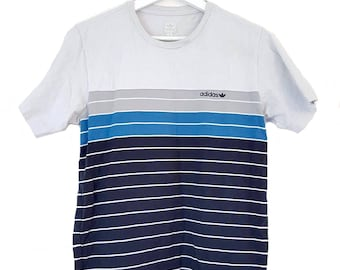 ADIDAS ORIGNIAL 80s 90s t-shirt with stripes