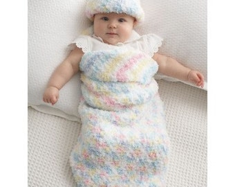 Crochet pattern Baby Cocoon and Hat / PDF / Vintage baby pattern