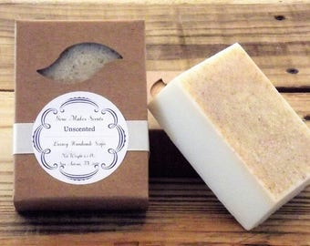 Unscented Handmade Luxury Soap 6.5 oz. bar