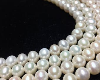 8MM genuine fresh water Pearls 16inch strand