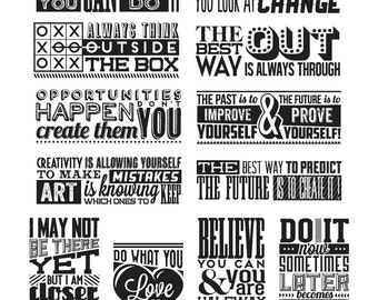 New Tim Holtz Cling Stamps - Mini Motivation CMS292 - Bold Phases/Word/Quotes