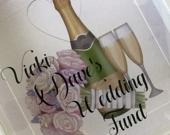 Wedding fund money drobbox keepsake frame