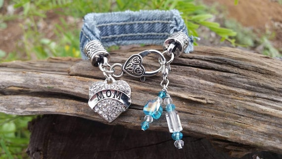 Mom Charm Bracelet with Five Clip-on Charms