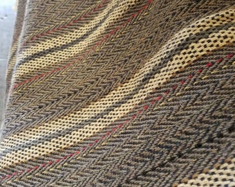 """Zarape stripe selvedge fabric made from (100% Recycled materials hand knitted in Mexico) 26"""" wide"""
