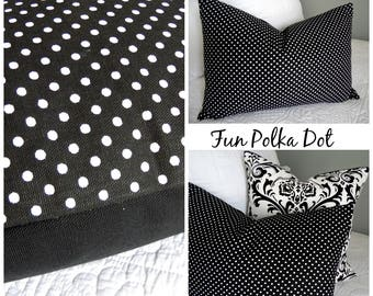 Scroll.Polka Dots.Pillow Covers.Black and Whites.Slip Cover.Modern.Pillow Cover.Home Decor.Glamorous.Beautiful Slip Covers.Pillow Covers