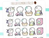 laundry emotis  - emoti planner stickers E073