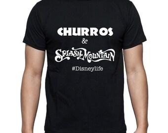 Disney Shirts Churros and Splash Mountain #Disneylife Disneyland Tee Disneyland Shirt Disney World Shirt Disney Shirt