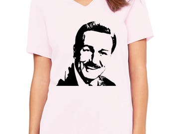 Disney Shirts Ladies Relaxed V neck Walt Disney shirt Walt Disney Portrait Shirt shirt Disneyland Shirt Disney World Shirt