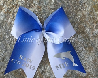 Ombre School Spirit Cheer Bow *New Style*