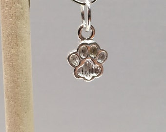 925 Sterling Silver Dog/Cat Paw Charm, Cat/Dog Paw Charm