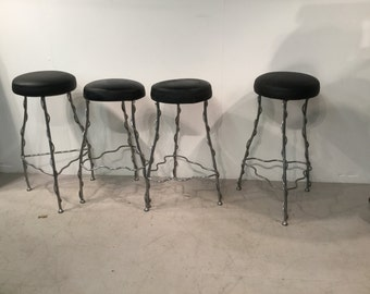 Industrial Bespokely Made Bar Stools