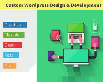 Custom Wordpress Website with Design, Development, Domain and Hosting
