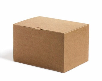 25 - Kraft Gift Boxes - 4 x 4 x 2.5 inches - Food Safe Packaging ...