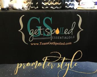 Custom tablecloth, vendor tablecloth, team events