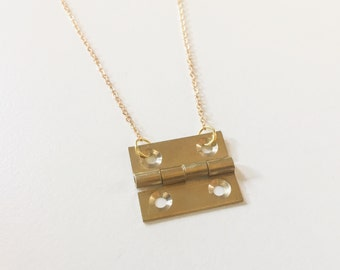 Door hinge necklace