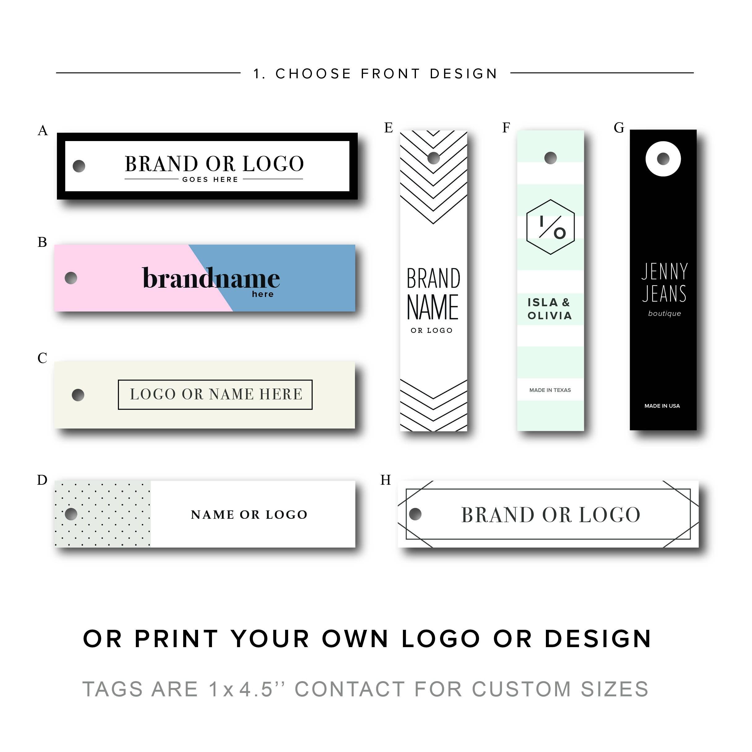 Clothing label, Custom hang tag, Custom clothing tag, logo tag ...